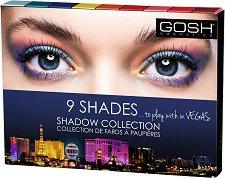 Gosh 9 Shades to Play with in Vegas - Палитра с 9 цвята сенки за очи -