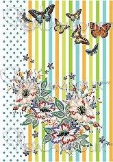 """Декупажна хартия - Пеперуди и цветя 294 - Серия """"Digital Collection Mulberry"""""""