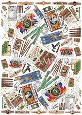 Декупажна хартия - Цигари и кибрит 72