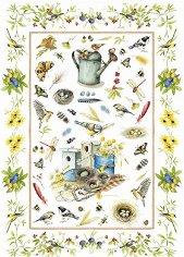 "Декупажна хартия - Птици 90 - Серия ""Digital Collection Mulberry"""