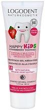 """Logodent Happy Kids Strawberry Toothgel - Детска гел паста за зъби с био екстракт от ягода от серията """"Logodent"""" - паста за зъби"""