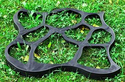 Форма за градинска настилка - Закръглени камъни - Размер 80 / 6 / 80 cm