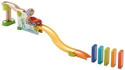 Сглобяема писта - Kullerbu - Детска дървена играчка с топче -