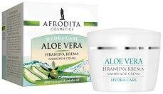 Afrodita Cosmetics Hydra Care Aloe Vera Nourishing Cream - Подхранващ крем за лице с алое вера за суха и дехидратирана кожа -