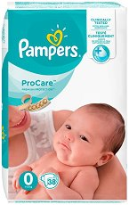 Pampers ProCare Premium Protection 0 - Пелени за еднократна употреба за бебета с тегло под 2.5 kg -