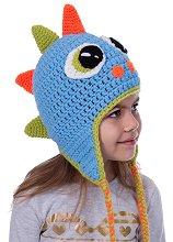 Ръчно плетена шапка - Дино - играчка