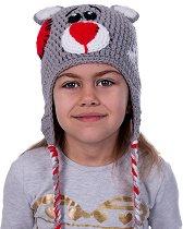 Ръчно плетена шапка - Мече -