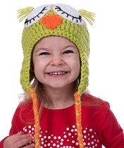 Ръчно плетена шапка - Спящо бухалче -