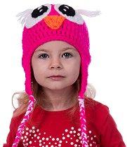Ръчно плетена шапка - Бухал -