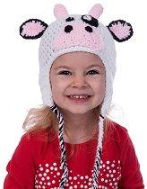 Ръчно плетена шапка - Крава -