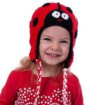 Ръчно плетена шапка - Калинка -