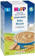 "HIPP - Инстантна био млечна каша ""Лека нощ"" с бисквити - Опаковка от 250 g за бебета над 6 месеца -"