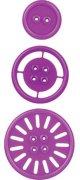 Щанци за машина за изрязване и релеф - Копчета - Комплект от 3 броя с диаметър от 1.3 до 2.5 cm