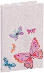 Текстилна подвързия за книга: Пеперуди -