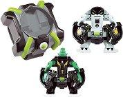 """Омнитрикс изстрелвачка с фигурки на Diamondhead и Cannonbolt - Комплект за игра от серията """"Omni-lunch Battle Figures"""" - играчка"""