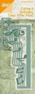 Щанца за машина за изрязване и релеф - Музикални ноти - Размери 5.7 х 14 cm