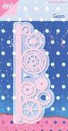 Щанца за машина за изрязване и релеф - Зъбни колела - Размери 5.3 х 14 cm