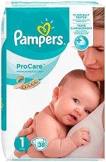 Pampers ProCare Premium Protection 1 - Пелени за еднократна употреба за бебета с тегло от 2 до 5 kg - продукт