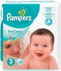 Pampers ProCare Premium Protection 3 - Пелени за еднократна употреба за бебета с тегло от 5 до 9 kg - продукт
