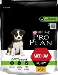 Purina Pro Plan Optistart Chicken Medium Puppy - Суха храна с пилешко месо за кученца от средни породи на възраст до 1 година - чували 800 g ÷ 12 kg -