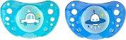 Ортодонтични силиконови залъгалки с кутийка - Physio Air - прибори