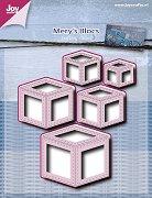 Щанци за машина за изрязване и релеф - Кубове - Комплект от 5 броя