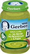 Nestle Gerber - Крем супа от зелени зеленчуци с елда - Бурканче от 190 g за бебета над 8 месеца -