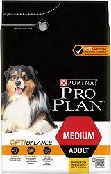 Purina Pro Plan Optibalance Chicken Medium Adult - Суха храна с пилешко месо за кучета от средни породи на възраст над 1 година - чували от 3 kg и 14 kg -