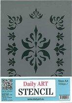 Шаблон - Винтидж орнаменти - Размери 21 х 29.7 cm