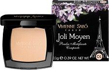 Vivienne Sabo Joli Moyen Poudre Matifiante Compacte - Матираща пудра за лице с огледалце - спирала