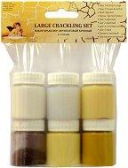 Двуфазен напукващ се лак - Large Crackling Set - Комплект за декорация от 6 бурканчета х 25 ml