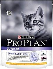 Purina Pro Plan Optistart Chicken Junior - Суха храна с пилешко месо за котета на възраст от 6 седмици до 1 година - чували от 400 g и 10 kg -