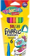 Маркери за текстил - Neon - Комплект от 6 цвята
