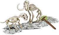 """Открий и реконструирай светещ скелет на Смилодон и Мамут - Образователен комплект от серията """"Science and Play"""" -"""
