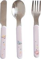 """Метални прибори за хранене - Комплект от вилица, лъжица и нож от серията """"Il Etait Une Fois"""" -"""