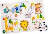 Зоогическа градина - Детски дървен пъзел - пъзел