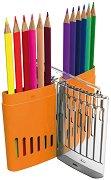 Цветни моливи - X-Color - Комплект от 12 цвята в пластмасова кутийка -