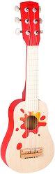 Китара - Звезда - Детски дървен музикален инструмент - играчка
