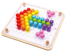 Мозайка с топчета - Детска дървена играчка -
