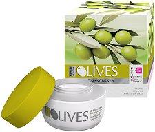 """Nature of Agiva Olives Regenerating Day Cream Anti-wrinkle - Дневен крем против бръчки за суха и чувствителна кожа от серията """"Olives Mediterranean"""" - продукт"""