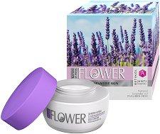 """Nature of Agiva Flower Perfect Skin Day Cream Renovator - Озаряващ дневен крем за суха и чувствителна кожа от серията """"Flower"""" - продукт"""