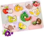 Плодове - Детски дървен пъзел - пъзел