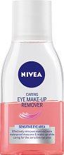 Nivea Caring Eye Make-Up Remover - Грижовен двуфазен лосион за почистване на грим за чувствителна кожа - продукт