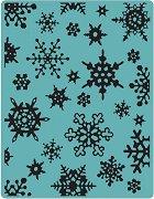 Папка за ембосинг - Снежинки - За машина за изрязване и релеф