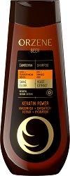 Orzene Beer Keratin Power Shampoo Dry + Damaged Hair - Шампоан за суха и увредена коса - продукт