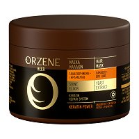 Orzene Beer Keratin Power Hair Mask Dry + Damaged Hair - Маска за суха и увредена коса - гел