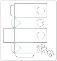 Mатрица за машина за изрязване и релеф - Торбичка за подарък и цвете - Размери 30.5 / 32.3 / 1.6 cm