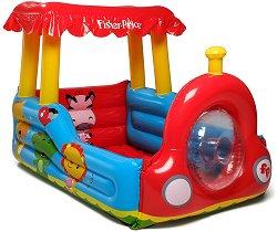 Надуваем влак - Комплект с 25 цветни топки за игра - играчка