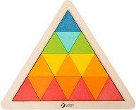 Триъгълна мозайка - Дървена образователна играчка -