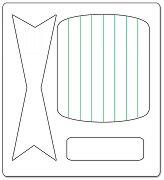 Mатрица за машина за изрязване и релеф - 3D папийонка - Размери 14 / 15 / 1.6 cm
